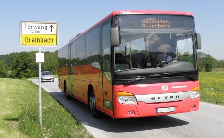 Wanderbus Ortsschild Th